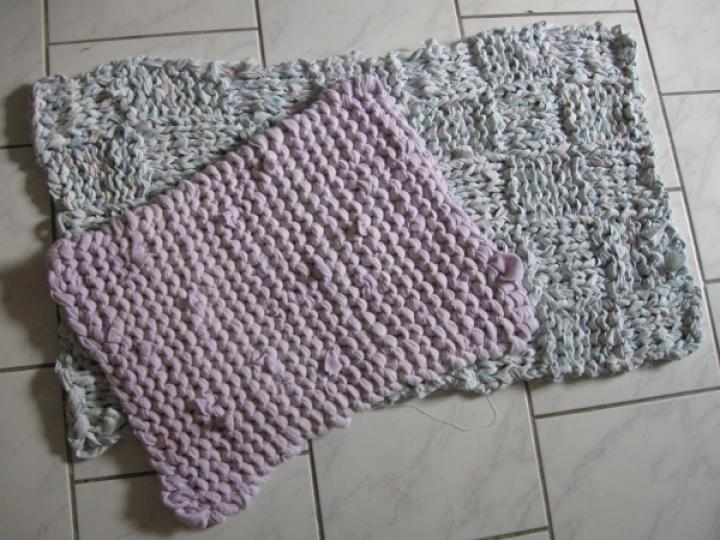 Recycled bath mats