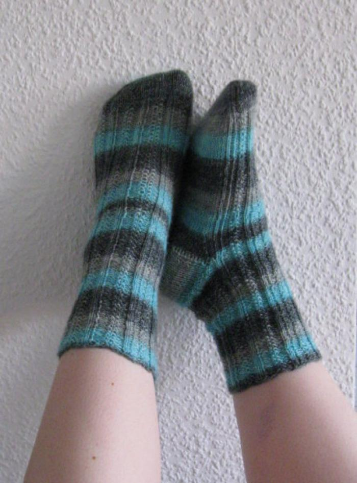 Ribbed Moss Ripple Socks