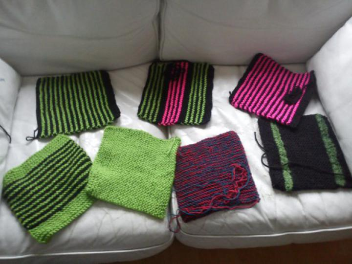 Squares knit on a Saturday