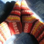 Ribbed Moss Ripple Socks