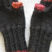 Two-tone Fingerless mitts